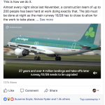 Extract form Dublin Airport facebook